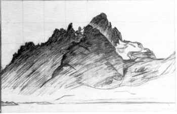 Fra Svolvær - Tegning - John Andreas Savio