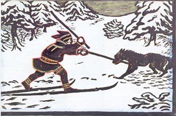 Jompa med ulven (farger) - John Andreas Savio