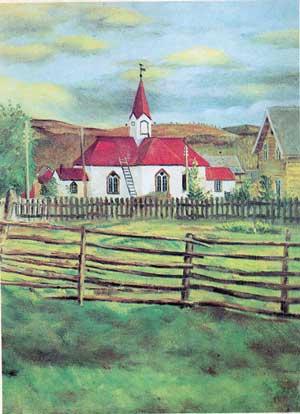 Karasjok kirke (maleri) - John Andreas Savio