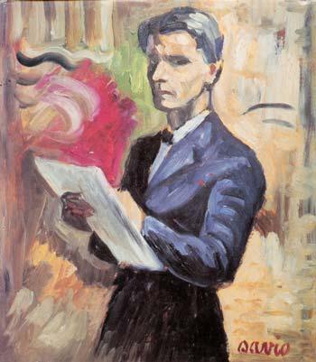 Selvportrett - farger - John Andreas Savio