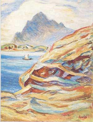 Vågkallen (olje på lerret) - John Andreas Savio
